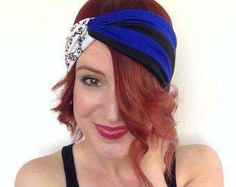 9129528779c9 Black   Blue Headband