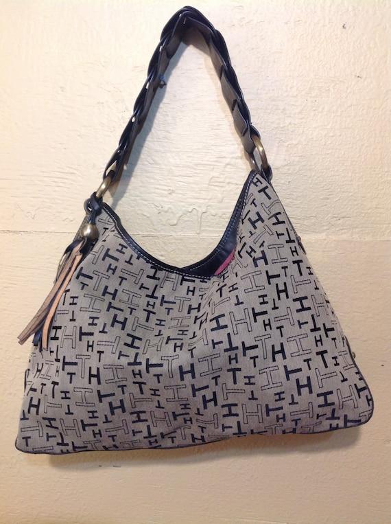TOMMY Hilfiger -25 % Sale !! HILFIGER Handbag/Shoulder  Bag/Hobo/Canvas/Monograms TH!