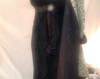 Evening dress black/prom/Evening gown/dress gown prom/Prom dress/size