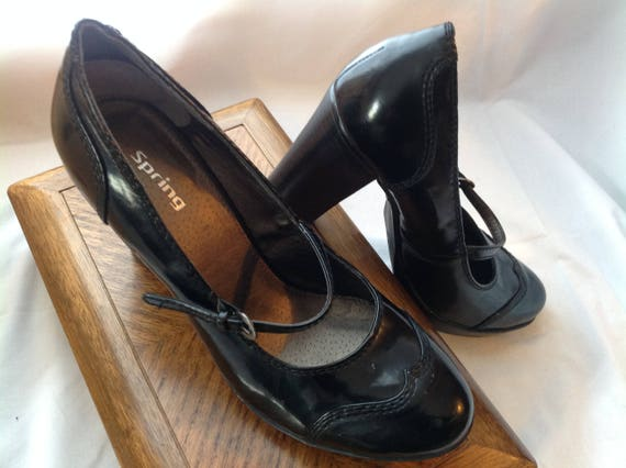 versatile inch heels black Janes Mary shoes Black shoes Chunky Block 3 5 qPUqwX87x