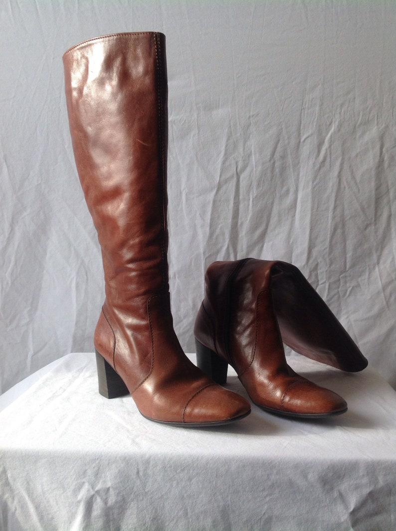 7c14e0d5909e7a Stiefel mit hohen Absätzen Leder Made in Italy für