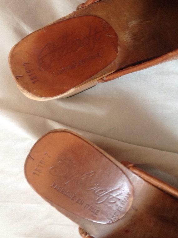 cuir en italien Mules v Sabots qwx5zCBEC