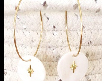 fe27835a98bf90 Earrings ~ naya ~ mother of Pearl brass
