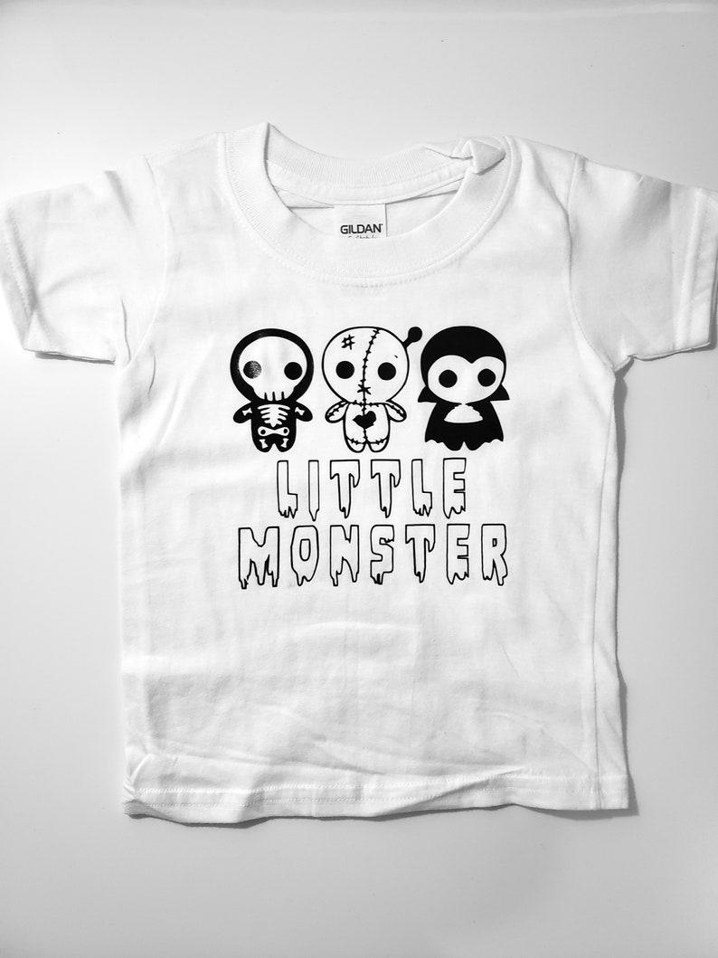 a23cf620b Little Monster Kid Toddler Tee Shirt Lil Halloween Kid
