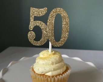 50 Cupcake Toppers, 50th Birthday Cupcake Toppers, Fifty Cupcake Toppers, Fiftieth Birthday, Fifty Birthday Cupcakes, 50 Anniversary