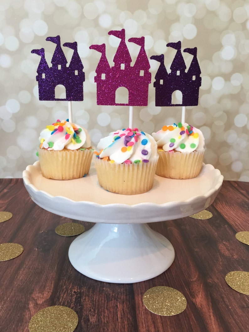 Castle Cupcake Toppers Royal Birthday Cupcakes Princess