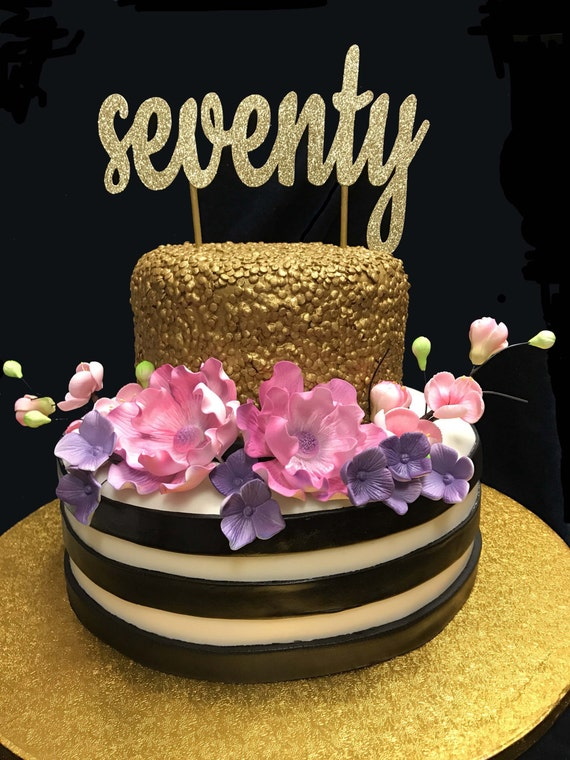 Seventy Birthday Cake Topper 70th 70