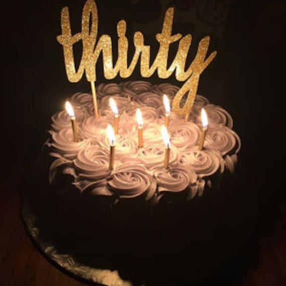 30th Birthday Cake Topper 30th Cake Topper 30 Birthday Cake Etsy
