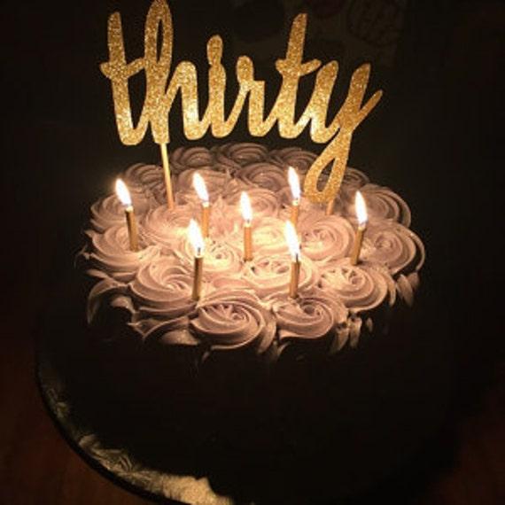 30th Birthday Cake Topper 30
