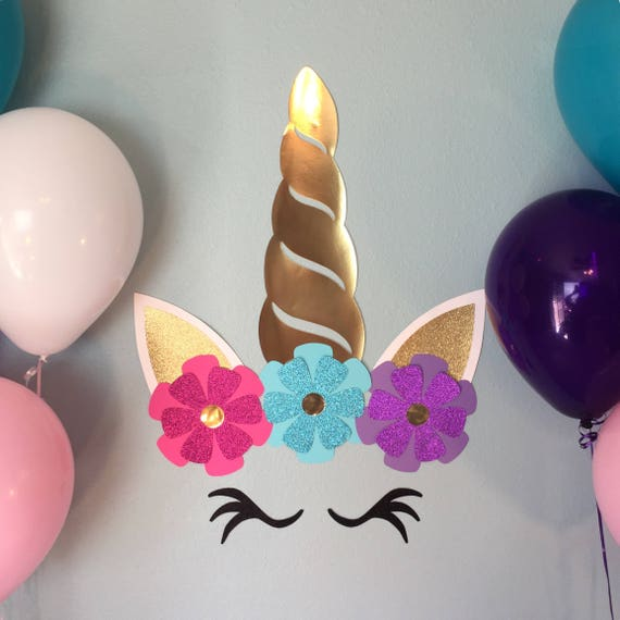 Unicorn Backdrop Unicorn Wall Decoration Unicorn Horn Wall Etsy