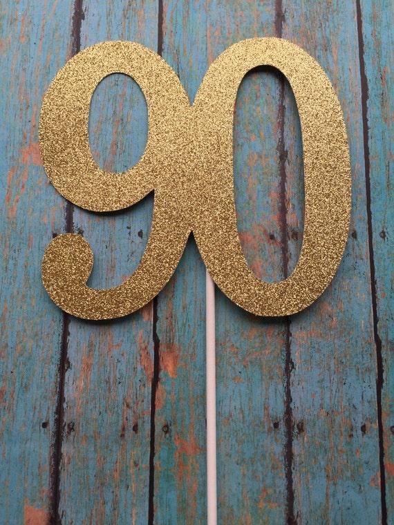 90th Birthday Cake Topper 90th Cake Topper 90 Birthday ...