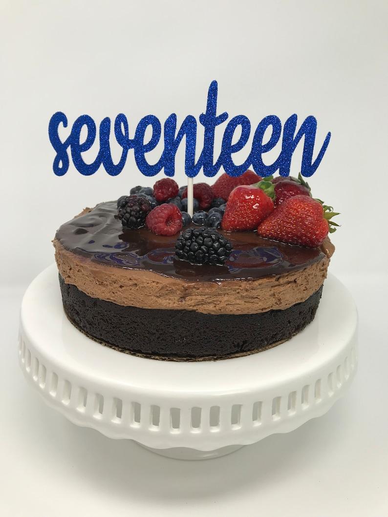 Seventeen Cake Topper 17th Birthday