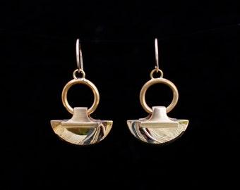 LASSIA earrings : modern bronze earrings
