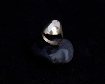 SPEYERIA ring : gold domed signet ring