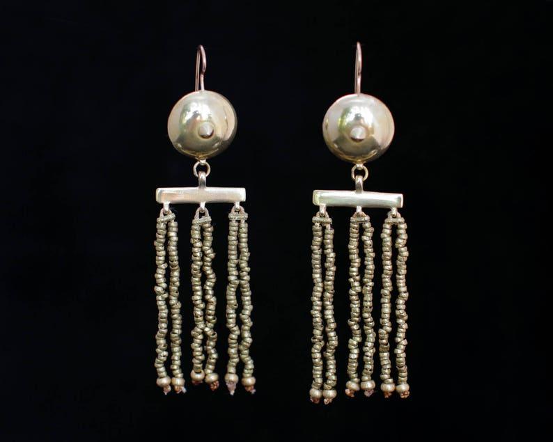 OTHO earrings : modern brass earrings image 0