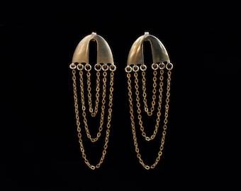 IDALIA earrings : modern chandelier earrings