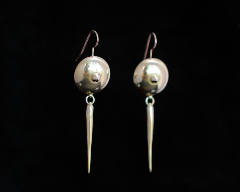 OTHO earrings II : modern brass earrings image 0