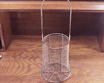 Older Craft Tall Wire Basket Bottle Tot, 14 1/2 Inches Tall, Supply, Craft Project