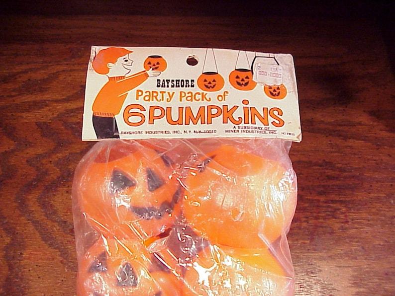 Vintage Plastic Halloween Pumpkins, Space Age Collectibles