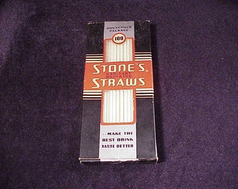 Vintage Stone's Sanitary Drinking Straws Box, Pack of 100