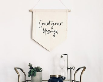 Canvas Banner - Count Your Blessings