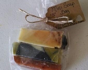 Organic Soap/Mini Soap/Soap Samples/Essential Oil Soap/Vegan Soap/Natural Soap/Handmade Soap/Mini Bars/Shower Soap Favors/Travel Soap