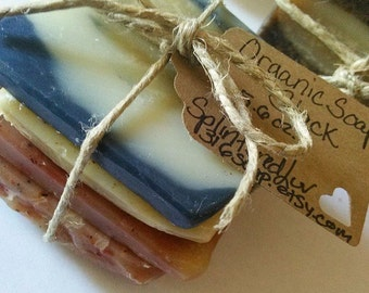 Soap/Organic Soap/Soap Samples/Soap Sampler/Soap Odds And Ends/Soap Bundle/Essential Oil Soap/Soap Stack/Handmade Soap/Vegan Soap/Rustic