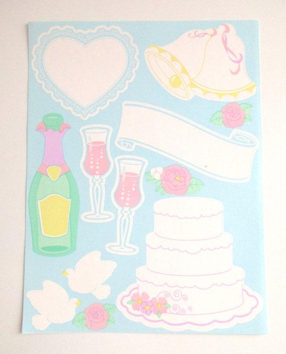 Sandylion Wedding Scrapbook Stickers Wedding Scrapbook Page Etsy