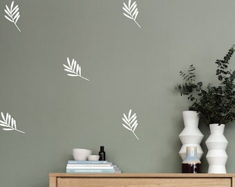 Leaves wall decals, trendy wall decals, home wall decals, nursery decals, kids room decals, living room decals
