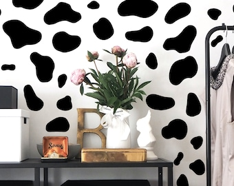 Cow pattern decal, living room wall decal, animal decal, wall decal, farm decal, cow print decal, nursery decal, baby room decal