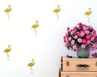 Flamingo wall decals, flamingo decals, nursery wall decal, wall decals, nursery decal, baby room decal, window decal, tropical decor, decals