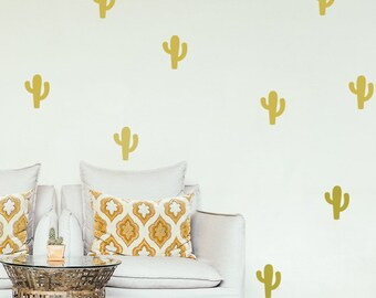 Cactus wall decals, cactus decals, nursery wall decal, wall decals, nursery decal, nature decals, baby room decal, window decal