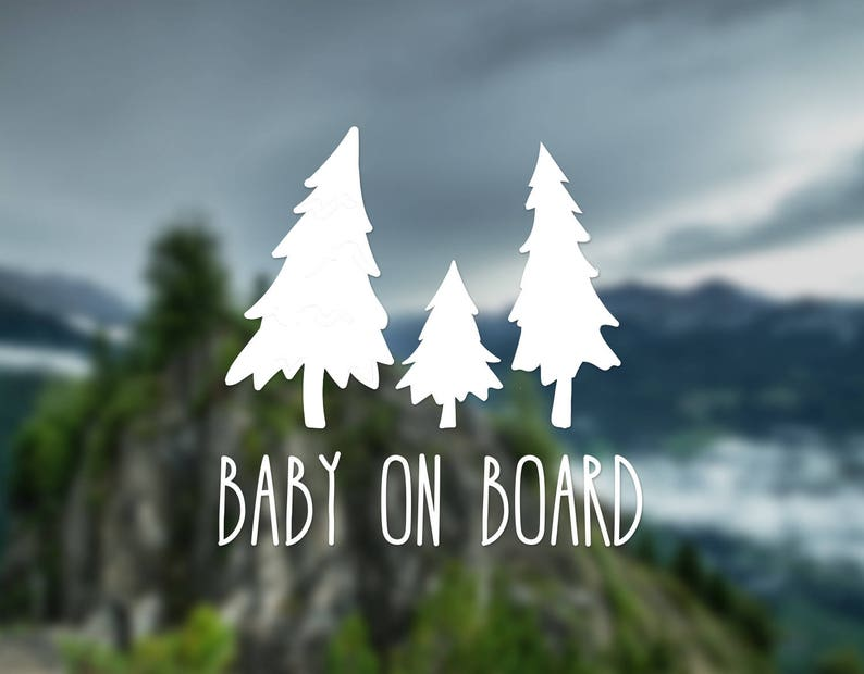 Baby on board decal tree decal nature decal wall decal car image 0