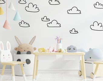 Clouds wall decals, trendy wall decals, home wall decals, nursery decals, kids room decals, living room decals