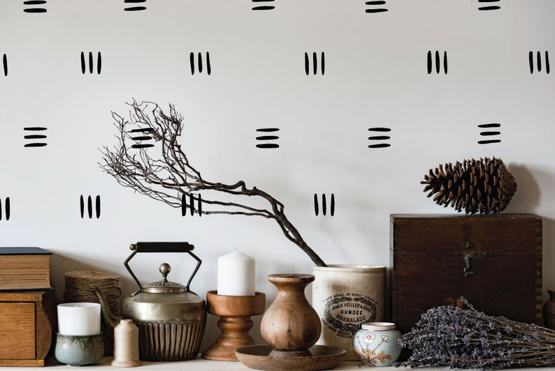 Lines wall decals trendy wall decals home wall decals Black