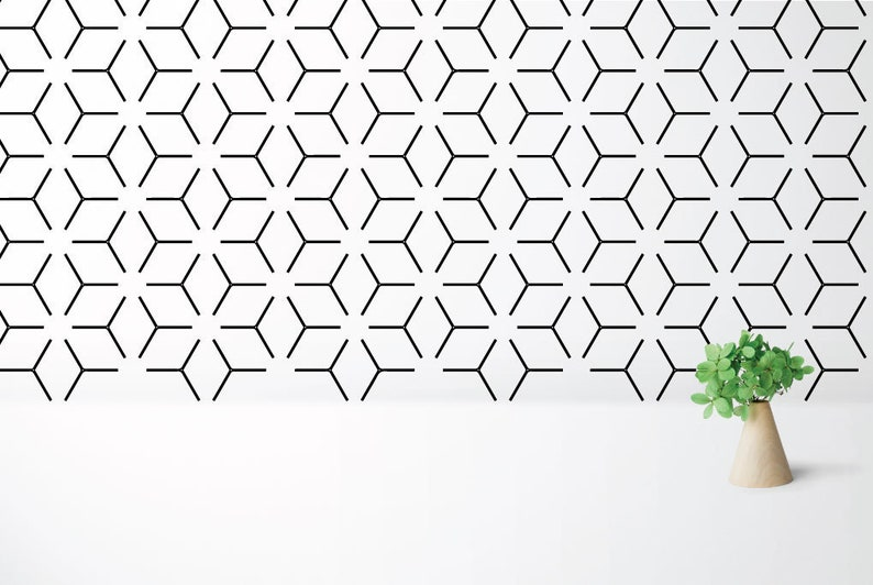 Lines decals modern decals office decal wall decals image 0