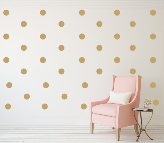 Gold Polka Dot Decals Vinyl Decals Black Polka Dot Decal