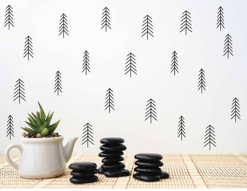 wall decals nature decals baby room decal nursery wall decal living room decal green decals Tree decals window decal nursery decal