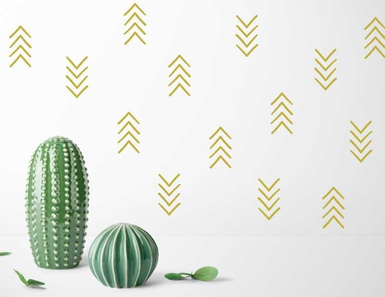 Arrows decals nursery wall decal wall decals gold decal image 0