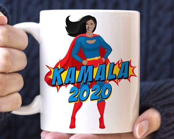 Kamala Harris 2020 Coffee Mug   Kamala Superhero Microwave Dishwasher Safe Ceramic Cup   Kamala Harris for President Cup