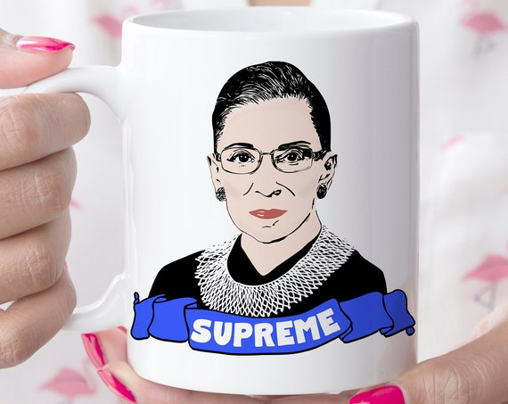 The Notorious RBG Supreme Coffee Mug | Ruth Bader Ginsburg Microwave Dishwasher Safe Ceramic Cup