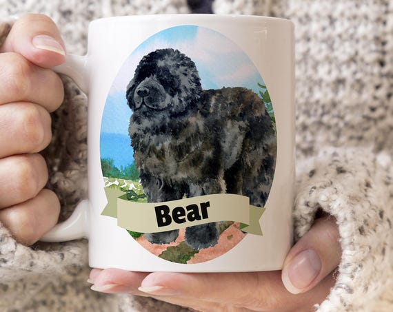 Newfoundland Custom Dog Mug - Get your dogs name on a mug - Dog Breed Mug - Great gift for dog owner - Newfoundland  mug