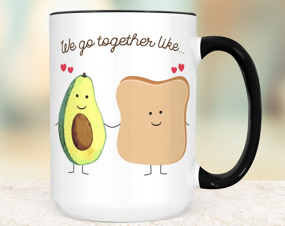 Avocado Toast Coffee Mug | Microwave and Dishwasher Safe Ceramic Cup | Great Gift for Avo Toast Lover