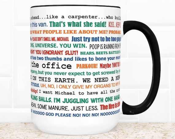 The Office TV Show Coffee Mug   Microwave and Dishwasher Safe Ceramic Cup   Funny Quotes