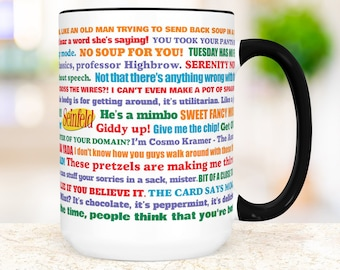 Seinfeld Coffee Mug |  Funny TV Show Quotes Ceramic Cup | Microwave and Dishwasher Safe Gift for Friend
