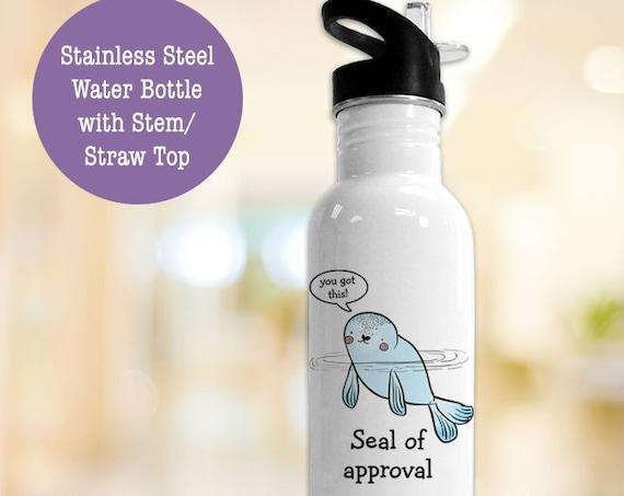 BPA FREE Stainless Steel Water Bottle - Seal of Approval Eco Friendly Water Bottle