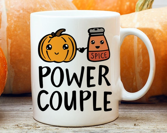 Pumpkin Spice Coffee Mug | Microwave and Dishwasher Safe Ceramic Cup | Fall Autumn Halloween Mug