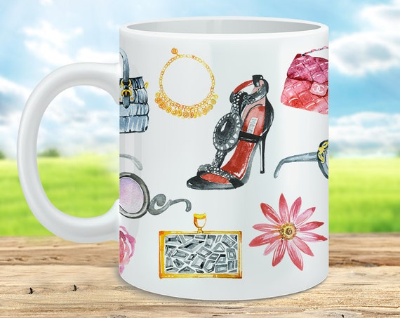 Watercolor Fashion Feminine Coffee Mug - Great gift for any Fashionista
