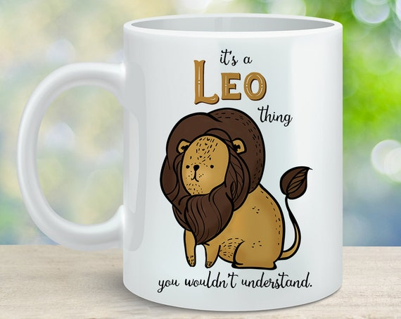 Coffee Mug Leo Astrological Sign Coffee Cup - Great Birthday Gift - Horoscope Mug