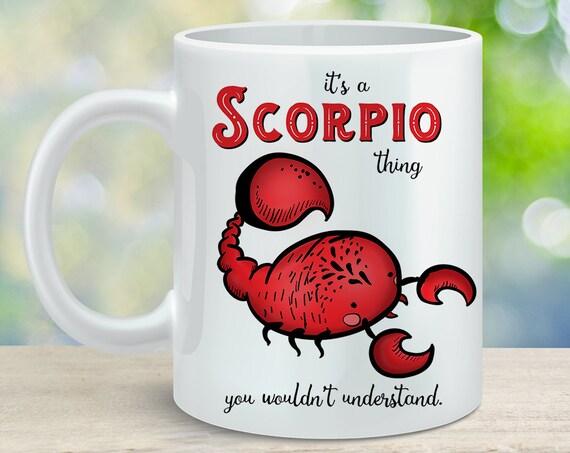 Coffee Mug Scorpio Astrological Sign Coffee Cup - Great Birthday Gift - Horoscope Mug